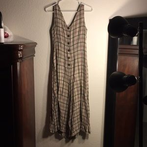 Olive and tan Summer dress